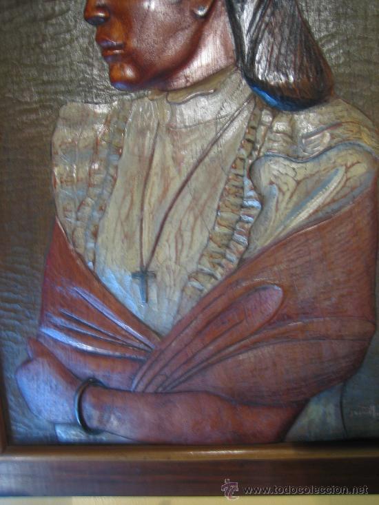 Arte: Pintura y talla sobre madera, hecho en Mejico hacia 1970. - Foto 3 - 26851247