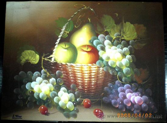 Bonito cuadro de oleo sobre lienzo sin enmarcar comprar - Enmarcar lienzo ...