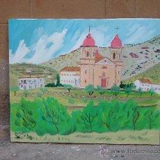 Arte: SANTUARIO DE TICES OHANES ALMERIA DE CRESPO 40X33 CM. TIENE CUADROS EN COLECCIONES PRIVADAS. Lote 11458963