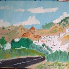 Arte: RAGOS PUEBLO DE ALMERÍA 55X38 CM. OLEO CRESPO. Lote 15838167