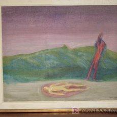 Arte: CUADRO DEL COTIZADO PINTOR ARGENTINO ARMANDO MOLINA ROSA. 80X65CM SIN EL MARCO. AÑO 1969. . Lote 26588400