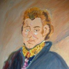 Arte: SIR ARTHUR WELLESLEY WELLINTONG OLEO SOBRE BASTIDOR LIENZO AUTOR CRESPO. Lote 12220515