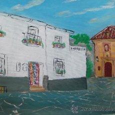 Arte: ALPUJARRA CALLE DE BEIRES CON ERMITA 40X50 CM. OLEO SOBRE LIENZO EN BASTIDOR CRESPO. Lote 22717403