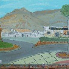 Arte: PLAZA DE SANTA MARIA DEL AGUILA EL EJIDO . 60X50 CM.APROX. OLEO DE CRESPO. Lote 12311426