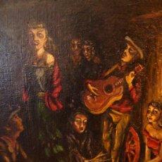 Arte: ÓLEO DEL ARTISTA BRETÓN PIERRE DINER FIRMADO,FECHADO, 51X60,MUY BUENO GRUPO DE GITANOS. Lote 27125358