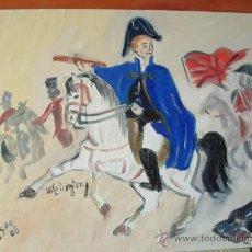 Arte: WELLINTONG A CABALLO 40X50 CM. OLEO SOBRE LIENZO EN BASTIDOR CRESPO. Lote 12311427