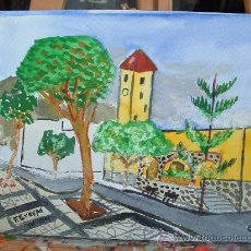Arte: SANTA MARIA DEL AGUILA ACUARELA 25X30 AUTOR CRESPO. Lote 8326342