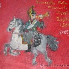Arte: TROMPETA DEL REGIMIENTO DEL PIAMONTE 30X24 CM OLEO SOBRE LIENZO EN BASTIDOR DE CRESPO. Lote 11557437