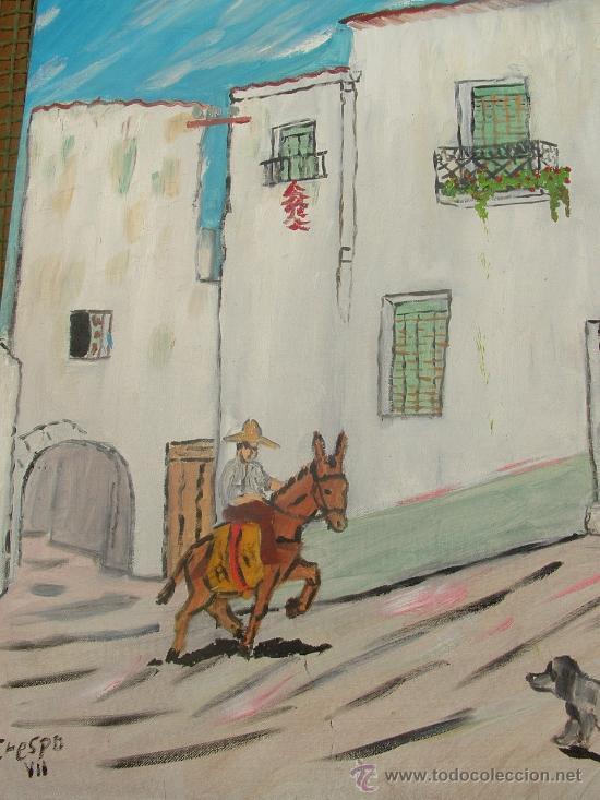 ALPUJARRA OHANES 60X50 CM. OLEO SOBRE LIENZO EN BASTDOR CRESPO (Arte - Pintura - Pintura al Óleo Contemporánea )