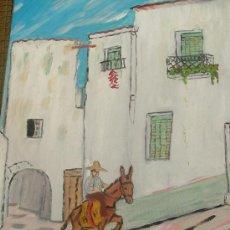 Arte: ALPUJARRA OHANES 60X50 CM. OLEO SOBRE LIENZO EN BASTDOR CRESPO. Lote 18622084