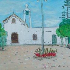 Arte: IGLESIA DE PAMPANICO EL EJIDO ALMERIA 60X50 APROX. OLEO SOBRE LIENZO EN BASTIDOR CRESPO. Lote 19679153