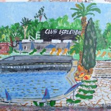 Arte: HOTEL ESPLENDID DE BLANES GERONA ACUARELA 30X25 CM CRESPO. Lote 16171057
