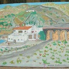 Arte: PUENTE DE LA ALCAZABA 70X60 CM. APROX. OLEO SOBRE LIENZO EN BASTIDOR DE CRESPO. Lote 264991979