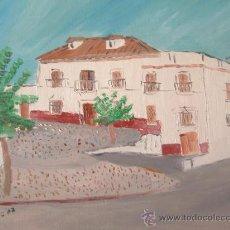 Arte: CASA DE LOS TRENES ADRA 46X38 CM. OLEO SOBRE LIENZO EN BASTIDOR CRESPO. Lote 19679152