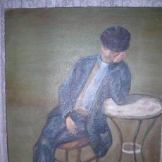Arte: SENTADO EN UNA MESA DE CAFE. Lote 8780704