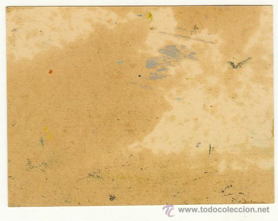 Arte: MUY BONITO Y ANTIGUO OLEO SOBRE PAPEL DURO MEDIDAS: 15 POR 11 CENTÍMETROS BONITO MOTIVO - Foto 2 - 24813601