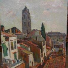 Arte: PROMOCION... FERRE REVASCALL, OLEO SELECCIONADO Y CATALOGADO DE REUS CAMPANAR SANT PERE. Lote 25737559