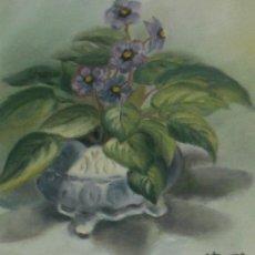 Arte: LIQUIDO PRECIOSO OLEO TABLA, FLORES. Lote 25737619