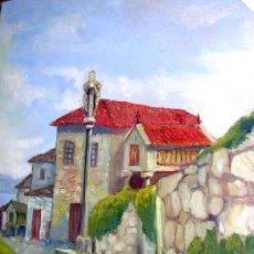 Arte: ARAMBURO MANUEL. PINTOR GALLEGO. CAMINO OS CRUCEIROS.DE COMBARRO A LA ARMENTEIRA.1956. ENVÍO PAGADO. Lote 27571357