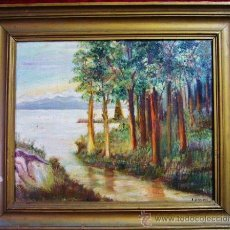 Arte: 1742.- OLEO SOBRE TELA 46X38. PAISAJE. L. ROVERI. Lote 25525440