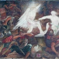 Arte: KALLINIK GOUSSEFF, LA RESURECCIÓN DE JESÚS, 1928, PINTURA AL ÓLEO SOBRE TELA. 123 X 176 CM. Lote 22974035