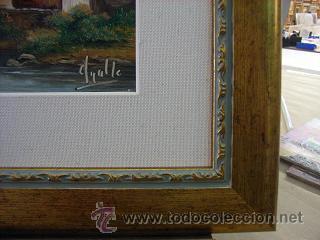 Arte: Paisaje al oleo con marco - Foto 3 - 26798696