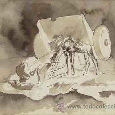 Arte: PERE PRUNA OCERANS (1904-1977) TINTA AGUADA SOBRE PAPEL¡¡¡¡¡¡¡¡LIQUIDACIÓN!!!!!!!!!. Lote 26934148
