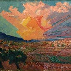 Arte: SALVADOR MASANA MERCADÉ OLEO SOBRE TELA. Lote 21024407