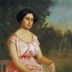 Kunst - OLEO SOBRE LIENZO JOSE MARIA TAMBURINI Y DALMAU LA JOVEN DEL ABANICO 1856-1932 ¡¡¡ 112 x 92 ¡¡¡ - 27060659