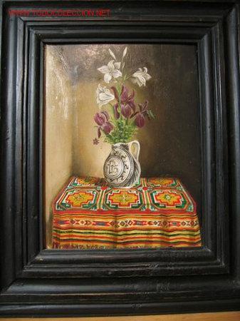 FLORERO FLAMENCO (Arte - Pintura - Pintura al Óleo Contemporánea )