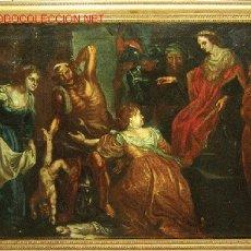 Arte: ORIGINAL PINTURA DEL SIGLO XVII. EL JUICIO DE SALOMON. . Lote 26292063
