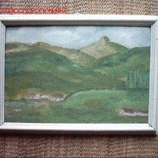 Arte: OLEO/TABLEX. ANONIMO. 31 X 21 CM. PAISAJE (CANTABRIA, PRINCIPIOS DEL SIGLO XX).. Lote 27061481