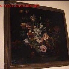Kunst - PINTURA OLEO BODEGON DE FLORES ESCUELA GRANADINA - 14030848