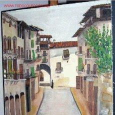 Arte: 1133.- OLEO S/TELA 69X52 ,,,PUEBLO,,, F.MARQUET. Lote 25472796