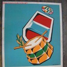Arte: PUERTOLLANO (CIUDAD REAL) - FERIA DE MAYO - AÑO 1965 - ORIGINAL PINTADO A MANO, ILUSTRADOR: M. MOZOS. Lote 116056187
