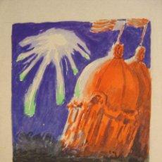Arte: VALENCIA - GRAN FERIA - AÑO 1950 - PINTADO A MANO. Lote 26895675