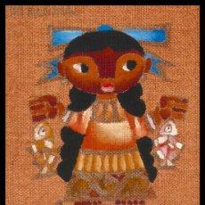 Arte: EXCELENTE PINTURA DE JOSE MARIA SERVIN, NIÑA MEXICANA CON PECES. Lote 26875522