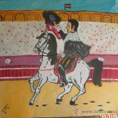 Arte: ALGAUCILILLO, 50X60 CM. OLEO SOBRE TABLEX , CRESPO. Lote 15509182