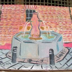 Arte: DALIAS , FUENTE DE CELÍN , OLEO SOBRE LIENZO 30X24 CM. CRESPO. Lote 14167992
