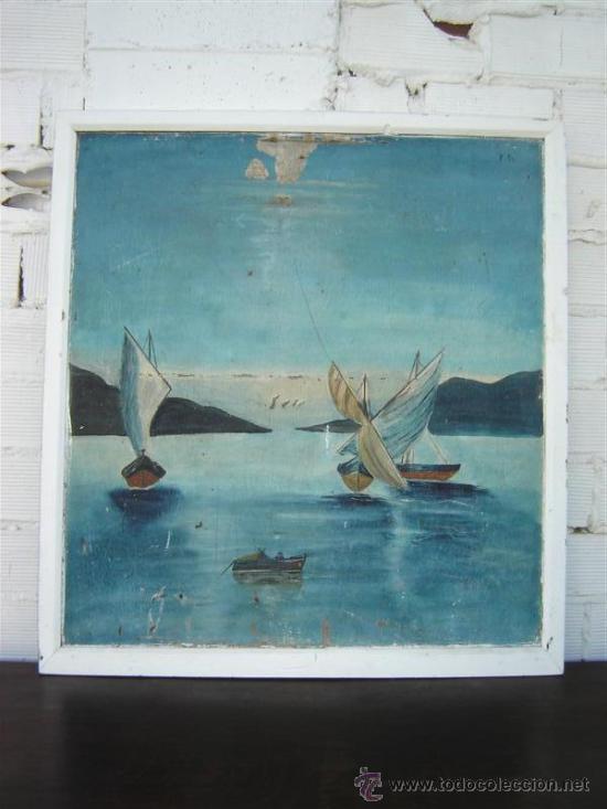 PINTURA MARINA ANTIGUA (Arte - Pintura - Pintura al Óleo Antigua sin fecha definida)