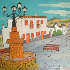 Arte: ALPUJARRA ,OHANES PLAZA , OLEO SOBRE TABLEX , 60X50 CM. DE CRESPO . Lote 16305785