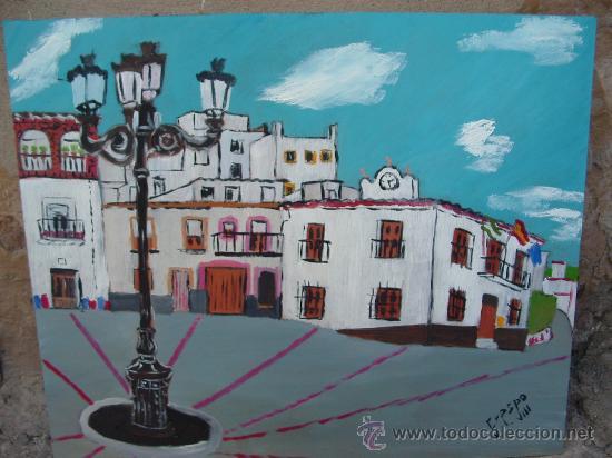 ALPUJARRA , BAYARCAL AYUNTAMIENTO OLEO SOBRE TABLEX 60X50 DE CRESPO (Arte - Pintura - Pintura al Óleo Contemporánea )