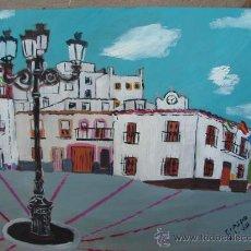 Arte: ALPUJARRA , BAYARCAL AYUNTAMIENTO OLEO SOBRE TABLEX 60X50 DE CRESPO. Lote 16305787