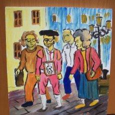 Arte: EL MATADOR SE JUBILA , OLEO SOBRE LIENZA EN BASTIDOR , 30X40CM DE CRESPO. Lote 11360674