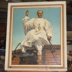 Arte: ORIGINAL ÓLEO SOBRE LIENZO (62X51.5), FIRMADO. LAWRENCE DE ARABIA, REPRESENTADO POR PETER O´TOOLE.. Lote 27165002