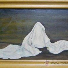 Arte: 1831.- ÓLEO SOBRE TELA 30X60. BODEGÓN MANTEL. PALAX. Lote 25164941