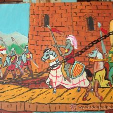 Arte: FERNANDO EL CATÓLICO EN ZAMORA 60X50 OLEO SOBRE TABLEX DE CRESPO. Lote 16171056