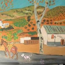 Arte: LAUJAR DE ANDARAX ,ALPUJARRA 50X60 CM. OLEO SOBRE TABLEX DE CRESPO. Lote 19329625