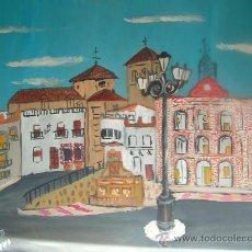 Arte: L28 ALPUJARRA , LAUJAR ,PLAZA Y AYUNTAMIENTO, 50X60 CM OLEO SOBRE TABLEX DE CRESPO. Lote 16305789