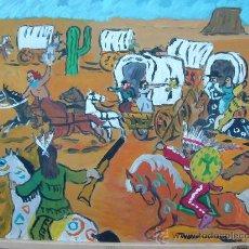 Arte: ASALTO A LA CARAVANA, 50X60 CM.ÓLEO/TABLEX DE CRESPO. Lote 15873729